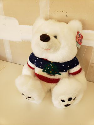 Christmas Stuffed Bear Wearing Xmas Sweater 24 inches for Sale in Concord, CA