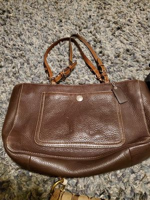 Coach brown leather purse shoulder bag style for Sale in Tampa, FL