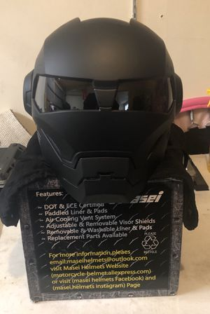Brand New Masei Black Ironman Motorcycle helmet (DOT) for Sale in Columbus, OH