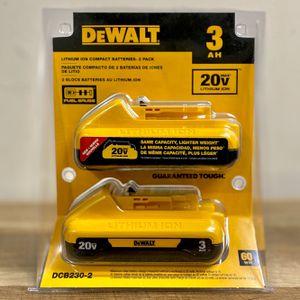 DeWalt Battery Sale 40 Dollars Each Battery Or 75 For Both Batteries for Sale in Houston, TX