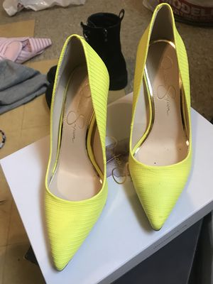 Yellow heels 6 1/2 for Sale in Silver Spring, MD