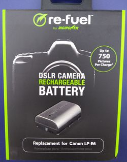 DigiPower Re-Fuel Camera Replacement Battery for Canon LP-E6 Brand New for Sale in Los Angeles,  CA