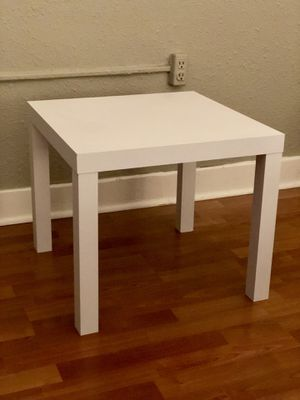 Gently Used, Great Condition White Side Table for Sale in Seattle, WA
