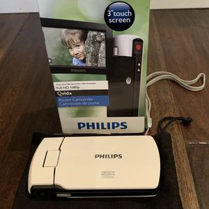 Philips cam300wh 1080p hd digital camcorder for Sale in Roseville, CA