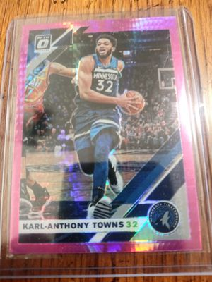 Karl Anthony Towns Hyper Pink Optic Card for Sale in Casa Grande, AZ