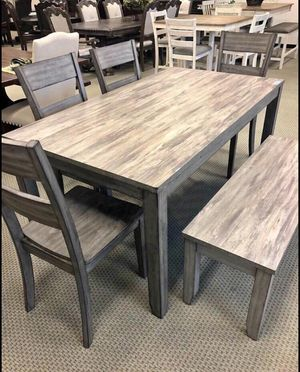 BRAND NEW 6-PC Sean Breakfast Kitchen w/ 4 Chairs & Bench - GREY for Sale in Stafford, TX