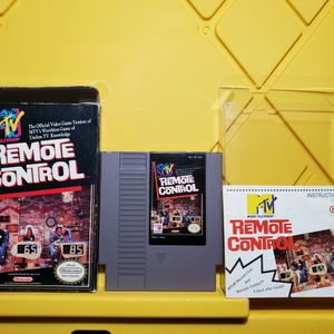 Retro Gaming Vintage 🕹MTV Remote Control (Nintendo, NES) - Box, Cartridge, instructions for Sale in Fremont, CA