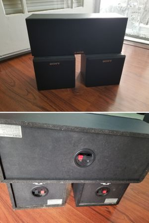 Sony surround sound speakers 3 speaker for home stereo system for Sale in Long Beach, CA