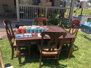 Cherry wood dining room table and chairs for Sale in Georgetown, KY