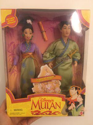 Vintage 1997 Disney Mulan Hearts Of Honor Mulan And Shane Doll- New In Box! for Sale in Atlanta, GA
