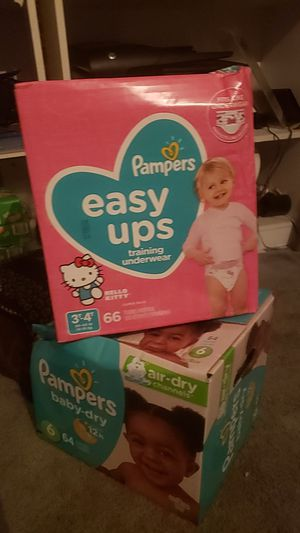 pampers pull ups / pampers size 6 for Sale in Houston, TX