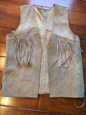 Leather Fringe Vest for Sale in Battle Ground, WA