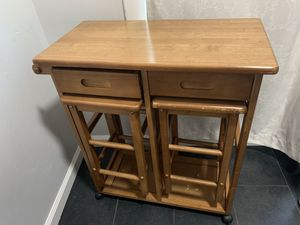 Small table with two bar stools for Sale in Oakland, CA