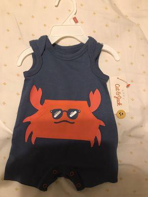 Baby boys Crab Romper-Cat &Jack blue(Newborn) for Sale in Los Angeles, CA