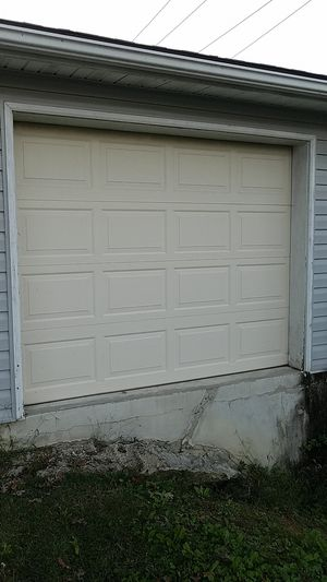 One Garage Door, Off White (8' wide x 6.5' high) for Sale in Bowie, MD