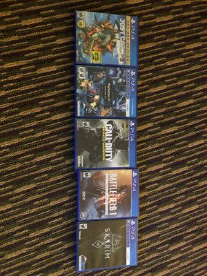 Just cause3,PlayStation vr demo disc 2.0,call of duty infinite warfare,battlefield 1 Skyrim vr for Sale in Redford Charter Township, MI