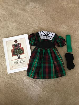Addy American Girl Christmas Outfit with book for Sale in Cary, NC