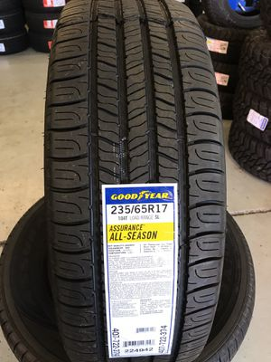 235/65/17 New set of Goodyear tires installed for Sale in Rancho Cucamonga, CA