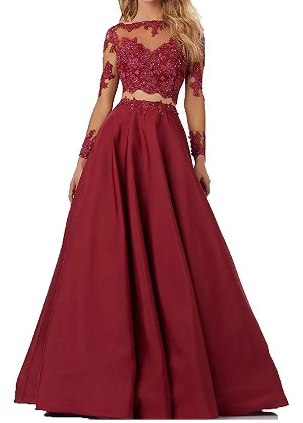 2 piece evening gown