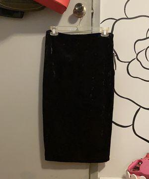 Brand new velvet black pencil skirt for Sale in Los Angeles, CA