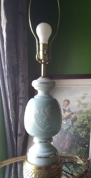 Vintage French Pate Sur Pate Opaline Blue Lamp for Sale in Mason, OH