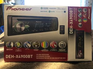 Pioneer DEH-X4900BT Bluetooth Radio for Sale in Rockwood, MI