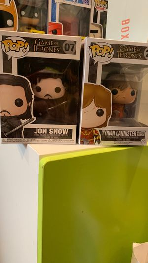 Game of Thrones Funko Pop (Jon Snow and Tyrion Lannister) for Sale in Rowland Heights, CA