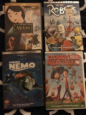 Kids Dvd lot Mulan Nemo for Sale in Covina, CA