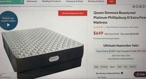 Brand new Simmons Beautyrest Platinum Mattress-Queen for Sale in Santa Clara, CA
