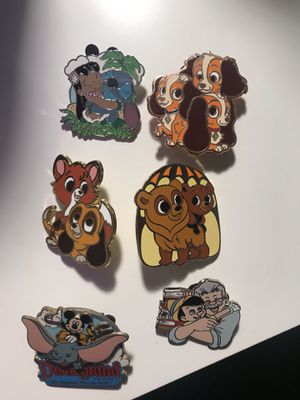 Disney pin lot of 6 for Sale in Fontana, CA