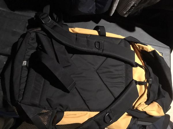 Northface black and yellow backpack