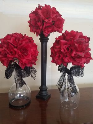3-vase flowers for Sale in Tracy, CA