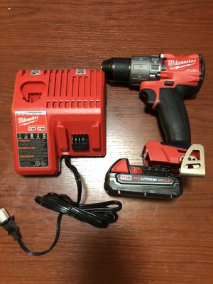 Milwaukee 18v fuel hammer drill with battery and charger for Sale in San Jose, CA