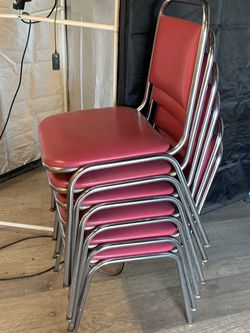 Vintage chromed kitchen Chairs 6ea for Sale in Pasadena,  CA