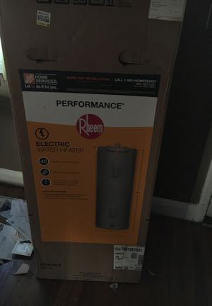 Rheem performance electric water heater 40 gallon tank for Sale in Baltimore, MD