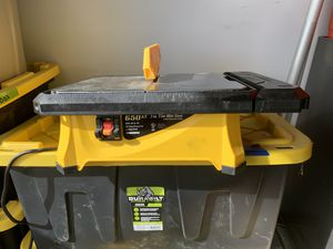 Wet Tile Saw (Porcelain/Ceramic Tile) for Sale in Maple Valley, WA