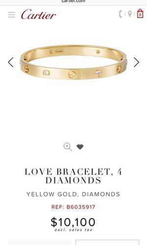 CARTIER LOVE BRACELET 4 DIAMONDS for Sale in New York, NY