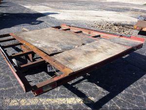 8x8 snowmobile flatbed trailer for Sale in Columbus, MN