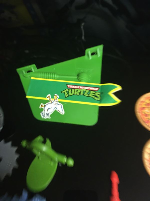 Vintage TMNT Accessories Lot for Ninja Turtles Action Figure Toy Collection