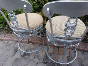 2 heavy steel bar stools for Sale in Miami, FL
