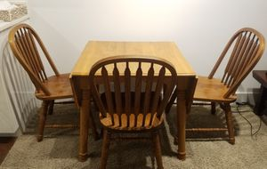 Table and 3 Chairs - wood for Sale in Orlando, FL