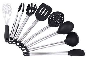 Kitchen Utensil Set - Best Cooking Utensils - Nonstick Cooking Spatulas - Best Kitchen Tools - For Non-Stick Pots and Pans - Serving Tongs, Spoon, Sp for Sale in New Brunswick, NJ
