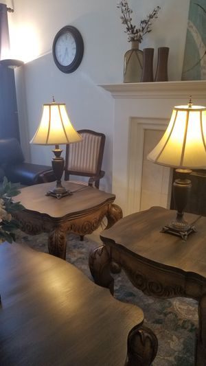 "29""TALL ANTIQUE LAMPS SET ($35 EACH/SELLING AS A SET ONLY) for Sale in Chino Hills, CA"