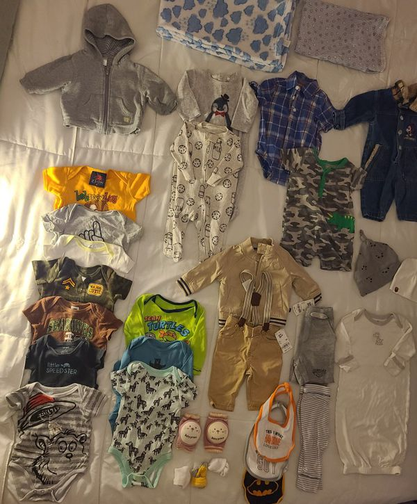 SIZE 3-6 MONTHS BABY BOY 33 PEICE CLOTHES LOT