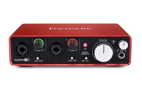 Focusrite Scarlett 2i2 (2nd Gen) USB Audio Interface with Pro Tools |