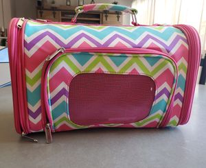 Small Dog Chevron Print Pet Travel Carrier Bag for Sale in Winchester, CA