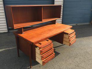 Danish Modern Teak Desk by ib Kofod Larsen for Faarup Møbelfabrik, Denmark for Sale in Kirkland, WA