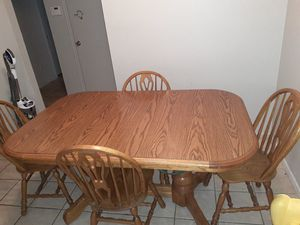 Solid wood kitchen table. for Sale in Oklahoma City, OK