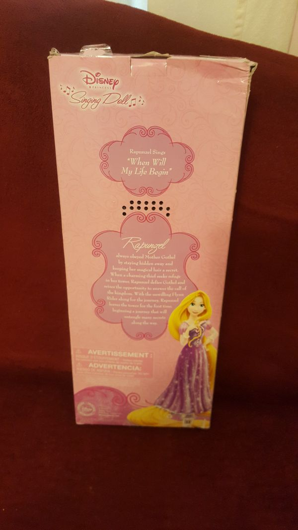 Singging Rapunzel doll