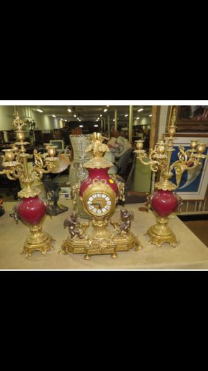 Antique clock and candelabras set for Sale in New York, NY